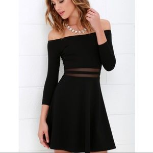 LULU'S Off The Shoulder Skater Dress!!